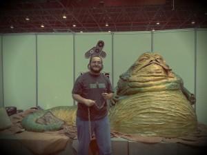Jorge Guerra sacó a pasear a Jabba The Hutt.