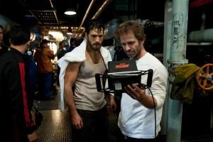 Zack Snyder y Henry Cavill en la filmación de 'Man of Steel'