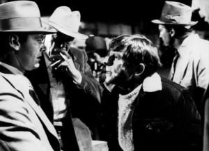"""Jack Nicholson y Roman Polanski (Izq. a der) en el set de filmación de """"Chinatown"""""""